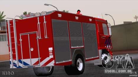 Mercedes-Benz Actros Fire Truck para GTA San Andreas vista direita