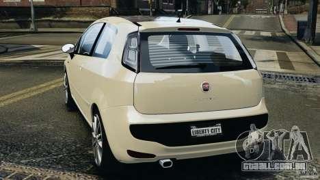 Fiat Punto Evo Sport 2012 v1.0 [RIV] para GTA 4 traseira esquerda vista