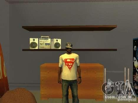 T-shirt do Super-homem para GTA San Andreas