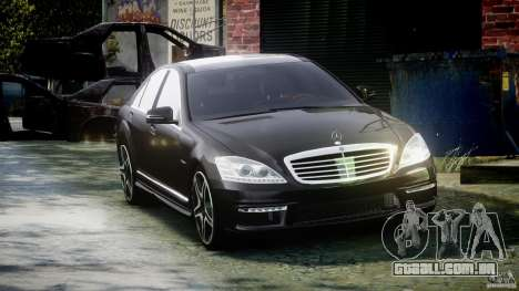 Mercedes-Benz S63 AMG [Final] para GTA 4 vista de volta