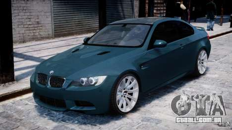 BMW M3 E92 stock para GTA 4 esquerda vista