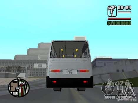 Ikarus 260.06 para GTA San Andreas traseira esquerda vista