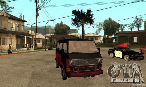 Volkswagen T3 Rusty para GTA San Andreas vista traseira