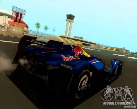 X2010 Red Bull para GTA San Andreas traseira esquerda vista