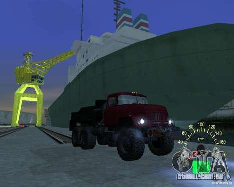 ZIL 131 petroleiro para GTA San Andreas vista traseira
