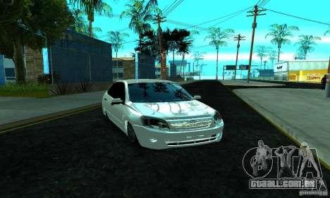 Lada 2190 Granta para GTA San Andreas vista traseira
