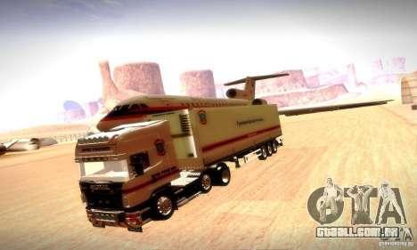 Scania R620 Emercom da Rússia para GTA San Andreas vista inferior