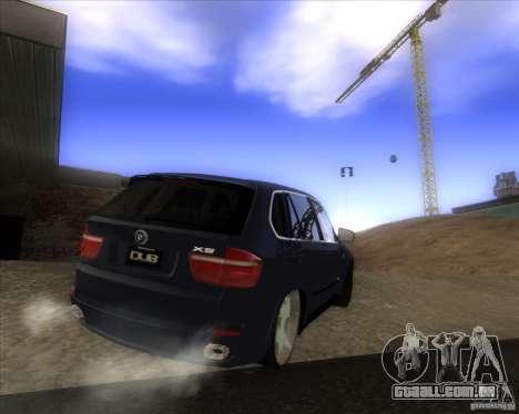 BMW X5 dubstore para GTA San Andreas vista traseira