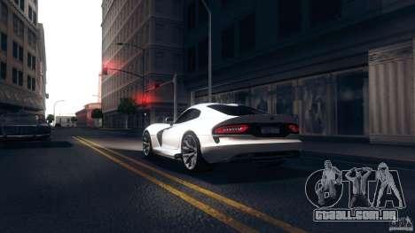 Dodge SRT Viper GTS 2012 V1.0 para GTA San Andreas traseira esquerda vista