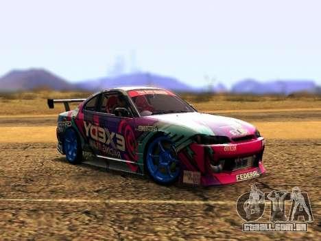 Nissan Silvia S15 EXEDY RACING TEAM para GTA San Andreas esquerda vista