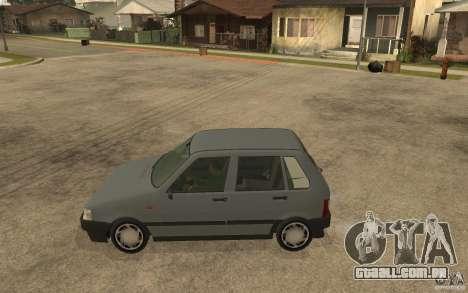 Fiat Uno 70s para GTA San Andreas esquerda vista