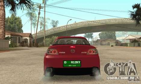 Ligar o motor e os faróis e para GTA San Andreas por diante tela