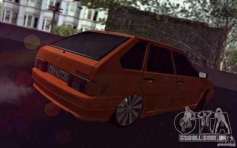 Ваз 2114 suculenta laranja para GTA San Andreas vista traseira