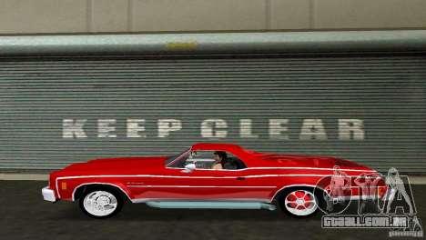 Chevrolet El Camino Idaho para GTA Vice City vista direita