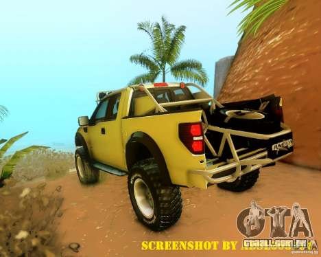 Ford F150 2011 SVT RapTor para as rodas de GTA San Andreas