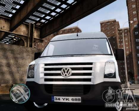 Volkswagen Crafter Turkish Schoolbus para GTA 4 vista de volta