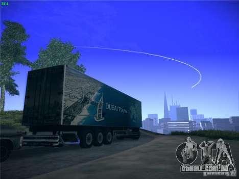 Trailer de Scania R620 Dubai Trans para GTA San Andreas vista traseira