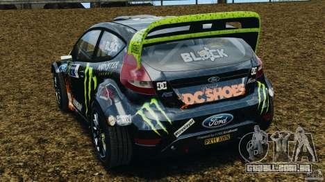Ford Fiesta RS WRC Gymkhana v1.0 para GTA 4 traseira esquerda vista