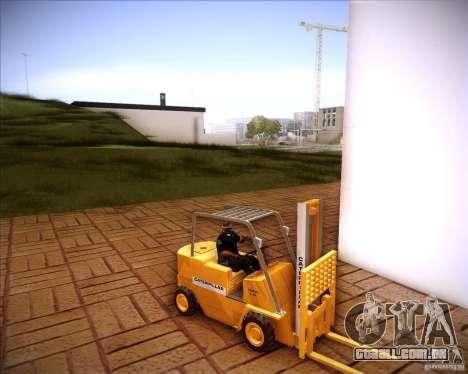 Caterpillar Torocat para GTA San Andreas traseira esquerda vista