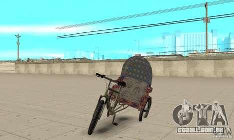 Manual Rickshaw v2 Skin5 para GTA San Andreas