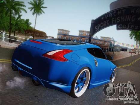 Nissan 370Z Fatlace para GTA San Andreas vista traseira