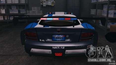Dodge Viper SRT-10 ACR ELITE POLICE [ELS] para GTA 4 vista inferior