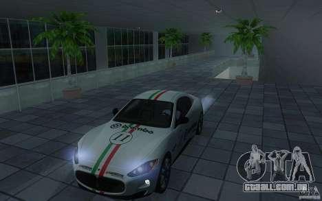 Maserati Gran Turismo S 2011 para GTA San Andreas vista traseira