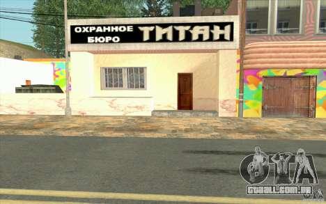 Uma aldeia nova Dillimur para GTA San Andreas twelth tela