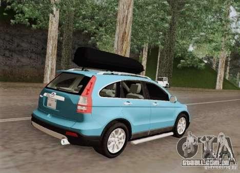Honda CRV 2011 para GTA San Andreas vista traseira