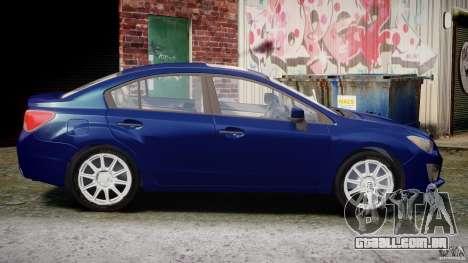 Subaru Impreza Sedan 2012 para GTA 4 vista interior