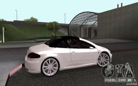 Peugeot 307CC BMS para GTA San Andreas traseira esquerda vista