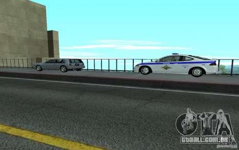 Polícia sobre a ponte de San Fiero_v. 2 para GTA San Andreas por diante tela
