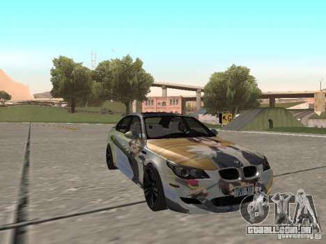 BMW M5 E60 para GTA San Andreas vista inferior