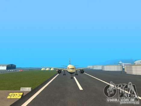 Boeing 777-200 British Airways para GTA San Andreas vista traseira