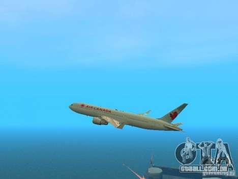 Boeing 767-300 Air Canada para vista lateral GTA San Andreas