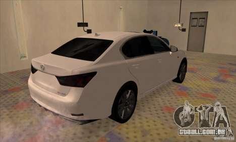 Lexus GS350 F Sport Series IV 2013 para GTA San Andreas