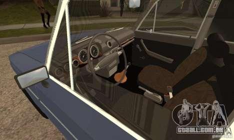 2106 VAZ velho v 2.0 para GTA San Andreas traseira esquerda vista