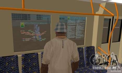 Metro 81-7021 para GTA San Andreas vista traseira
