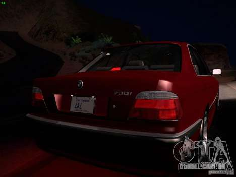 BMW 730i e38 1997 para GTA San Andreas vista superior