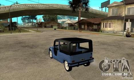 Citroen Mehari para GTA San Andreas traseira esquerda vista