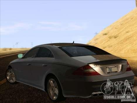 Mercedes-Benz CLS63 AMG para GTA San Andreas esquerda vista