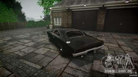 Dodge Charger RT 1969 para GTA 4 vista inferior