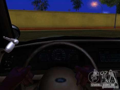 Ford Crown Victoria San Andreas State Patrol para GTA San Andreas interior