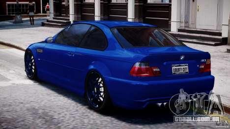 BMW M3 E46 Tuning 2001 para GTA 4 traseira esquerda vista