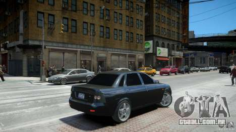 Lada Priora Light Tuning para GTA 4 vista de volta