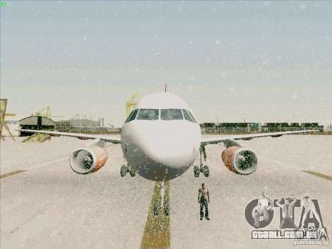 Airbus A319 Easyjet para GTA San Andreas vista superior