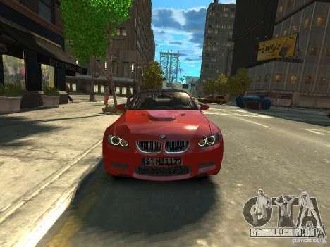 BMW M3 E92 para GTA 4 vista direita