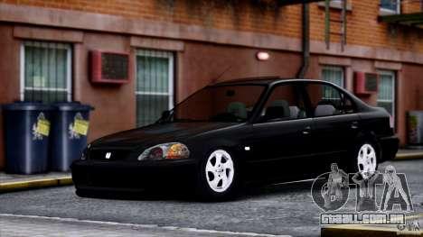 Honda Civic Vti para GTA 4 traseira esquerda vista