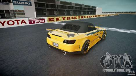 Calma Honda S2000 Tuning 2002 3 pele para GTA 4 vista inferior