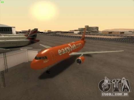 Airbus A320-214 EasyJet 200th Plane para GTA San Andreas traseira esquerda vista